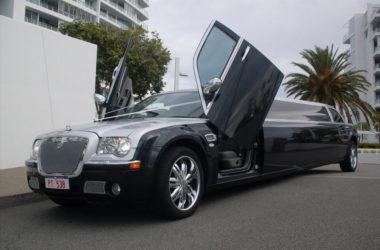 10 Seater Black Silver Chrysler Limousine7