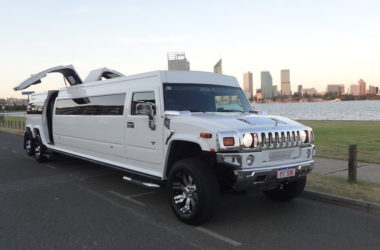 White 20 Seater Hummer1